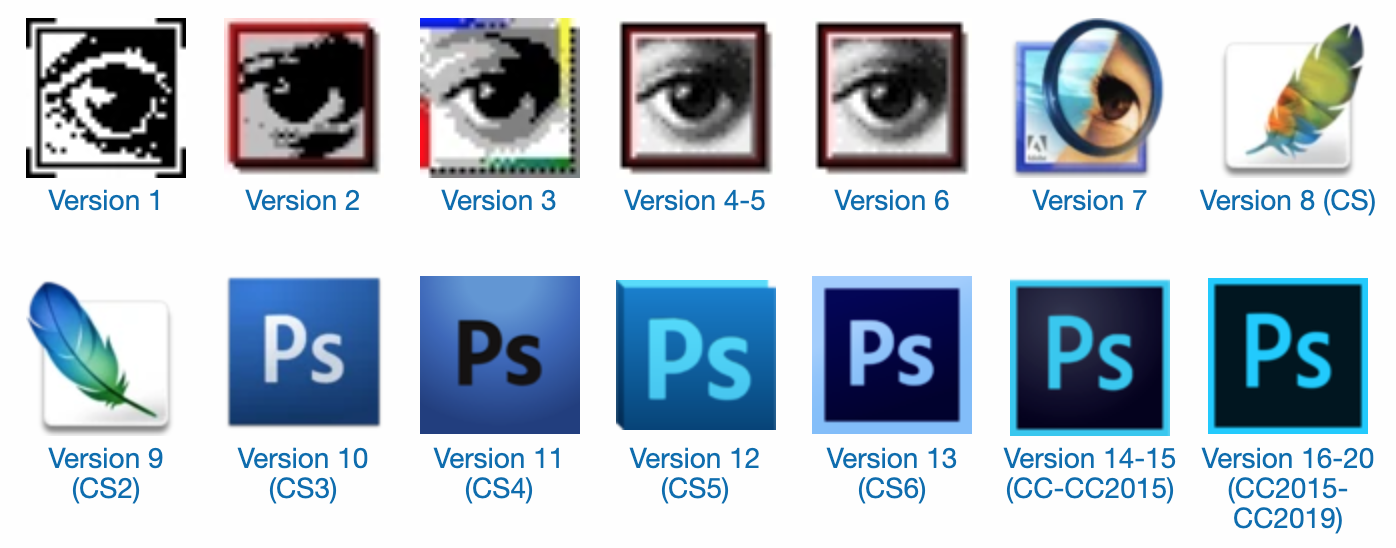 29 Years of Adobe Photoshop Design History - 90 Images - Version Museum