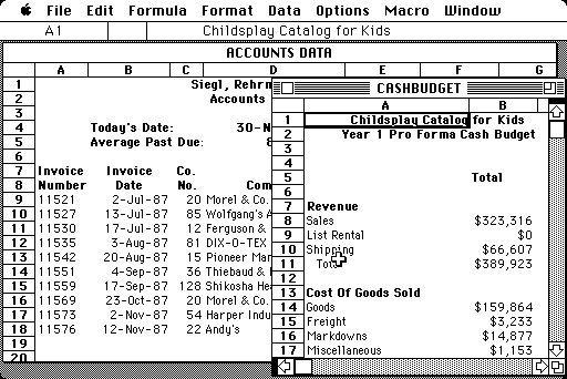 Microsoft Excel 1.5 for Mac (1985)