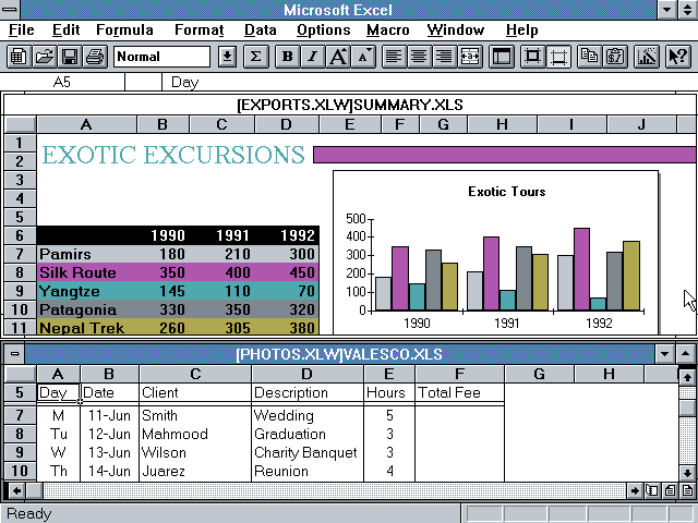 Microsoft Excel 4.0 Charts and Graphs (1992)