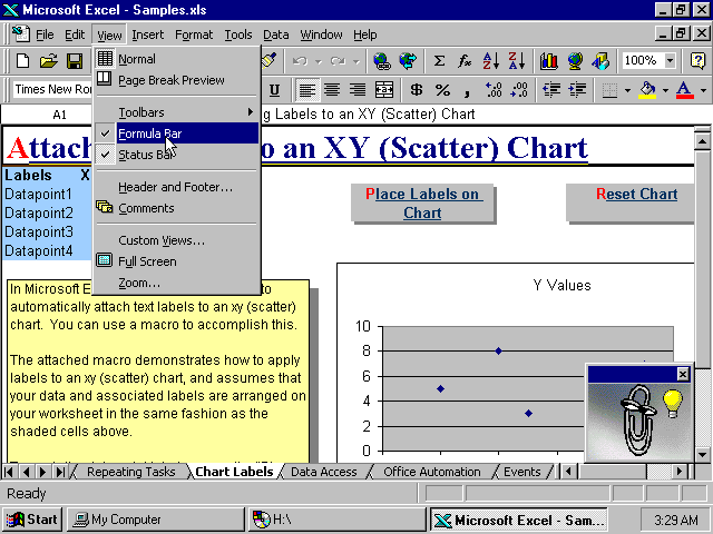 Excel 97 Charts and Graphs (1997)