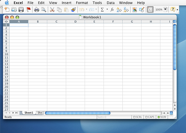 Excel 2000 for Mac Empty Sheet (2000)