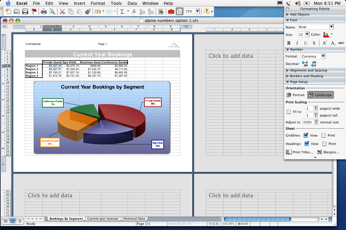 Excel 2004 for Mac Charts and Graphs (2004)