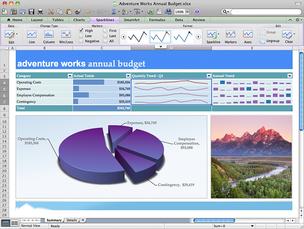 Excel 2011 for Mac Charts and Graphs (2011)