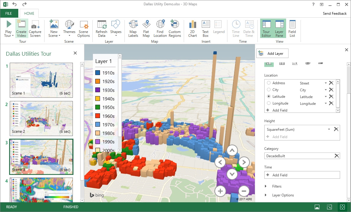 Excel 2016 3D Map (2016)