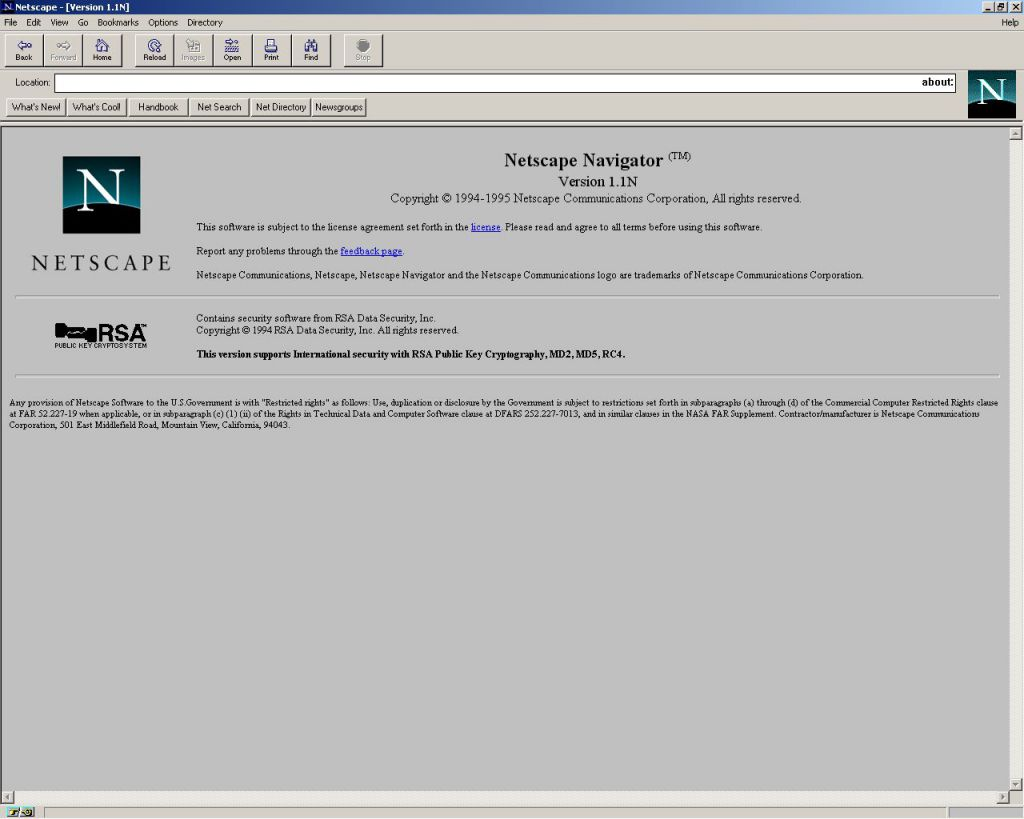 Netscape Navigator 1.1 Browser for Windows 95 (1995)