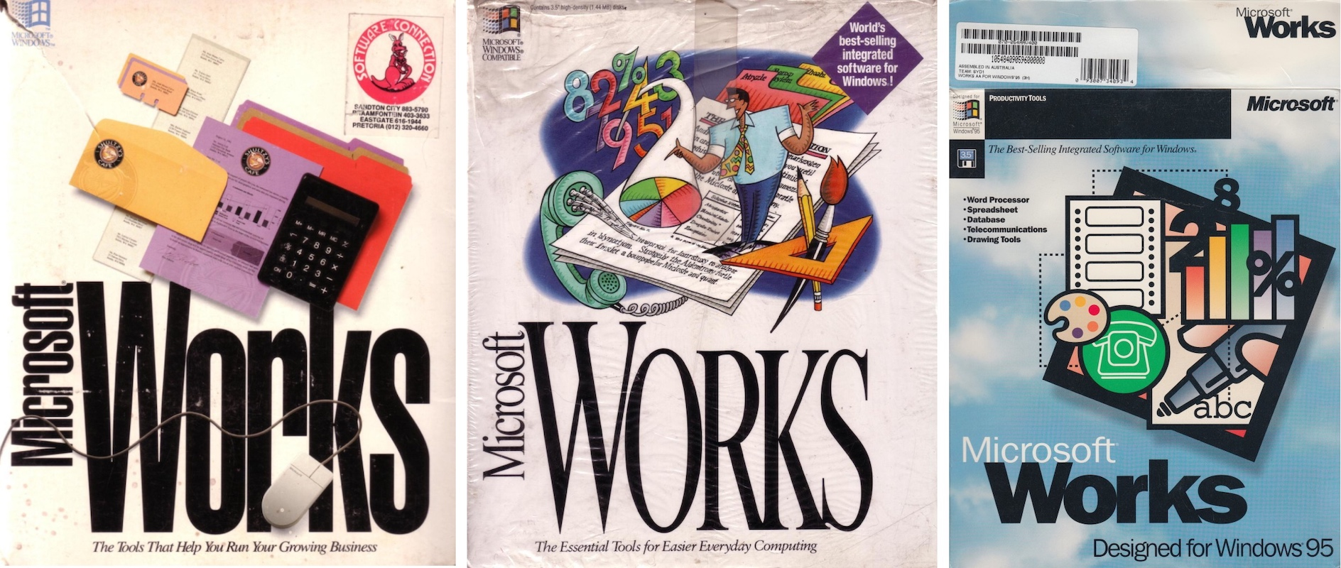 Microsoft Works Box Covers (1991-1995)