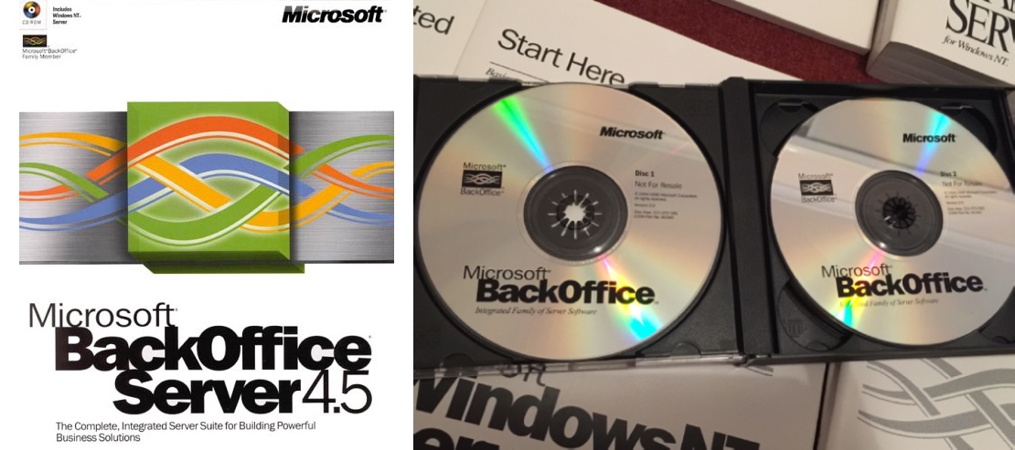 BackOffice Install CDs and 4.5 Box Cover (2000)