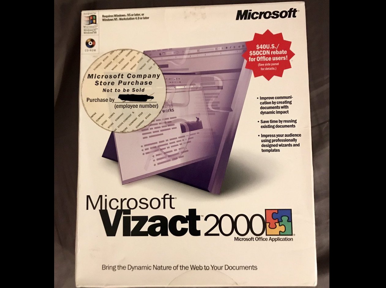 Microsoft Vizact Box Cover (2000)