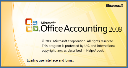 Microsoft Office Accounting Splash Page (2009)