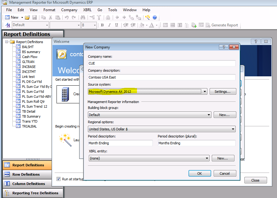 Microsoft Management Reporter 2012 Interface (2011)