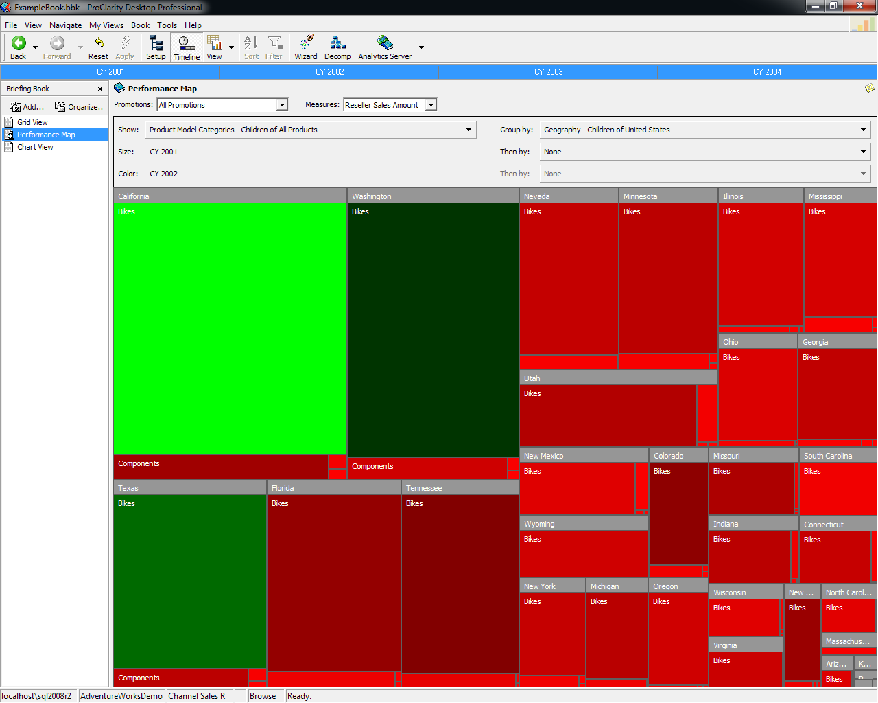 Microsoft ProClarity Desktop Professional 6.3 Performance Map (2013)
