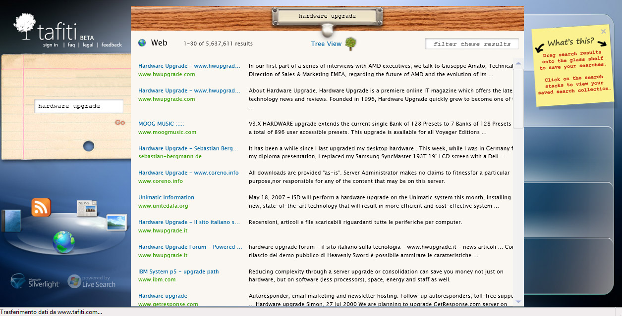 Microsoft Tafiti Silverlight Search Engine (2007)