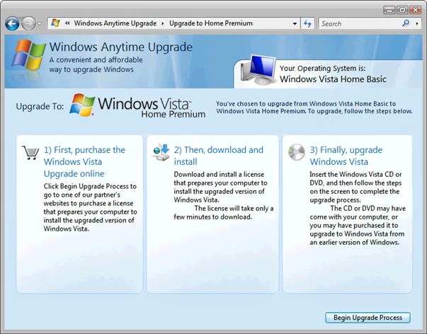 Windows Anytime Upgrade Interface (2008)