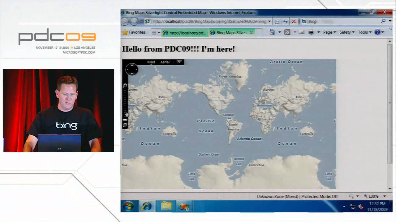 Bing Maps Silverlight Presentation at PDC09 (2009)