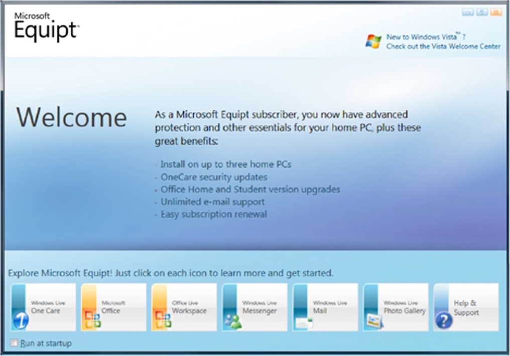 Microsoft Equipt Suite Interface (2009)