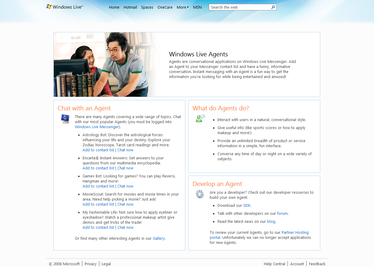 Windows Live Agents Website (2009)