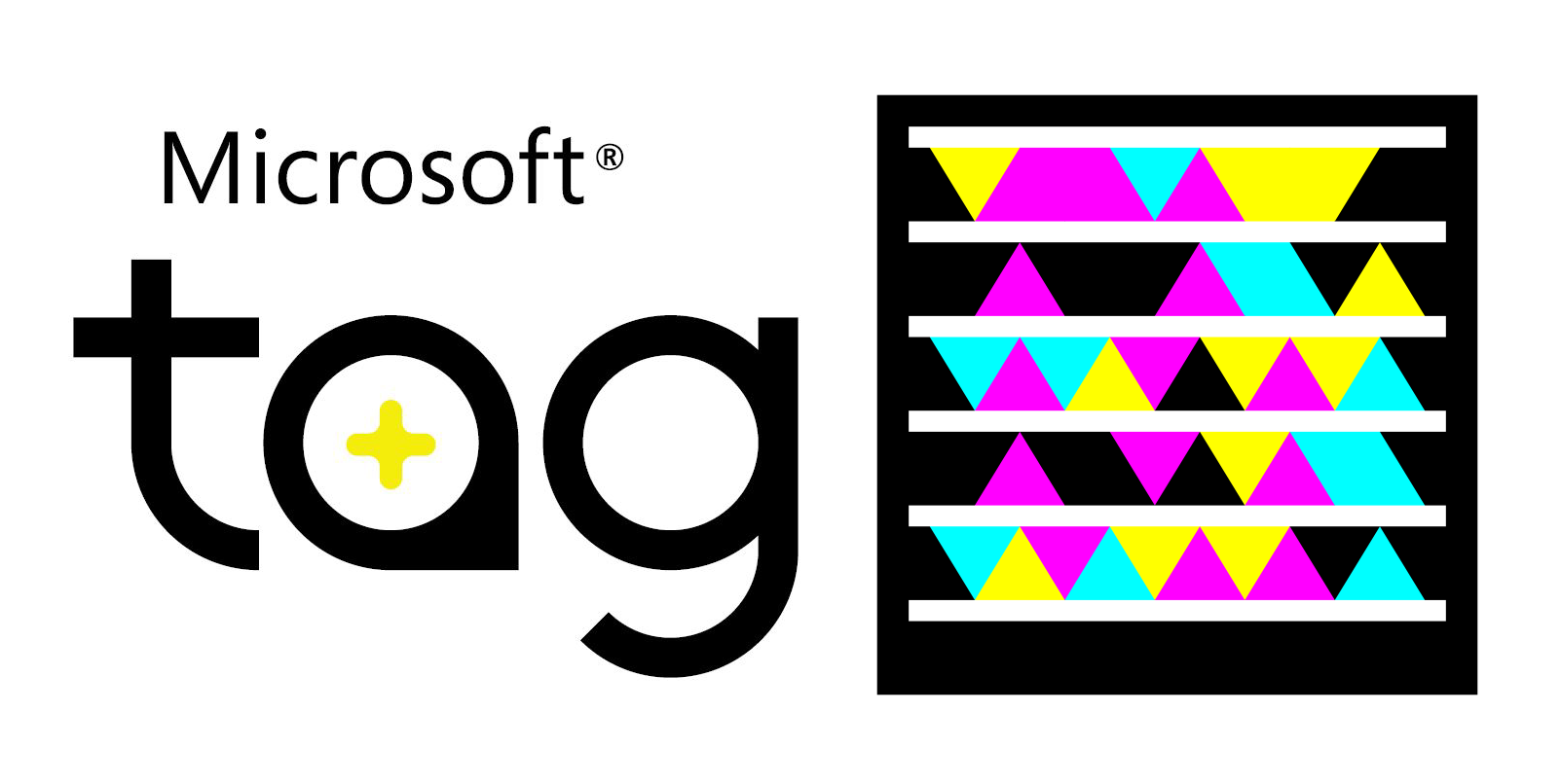 Microsoft Tag Logo and Barcode (2010)