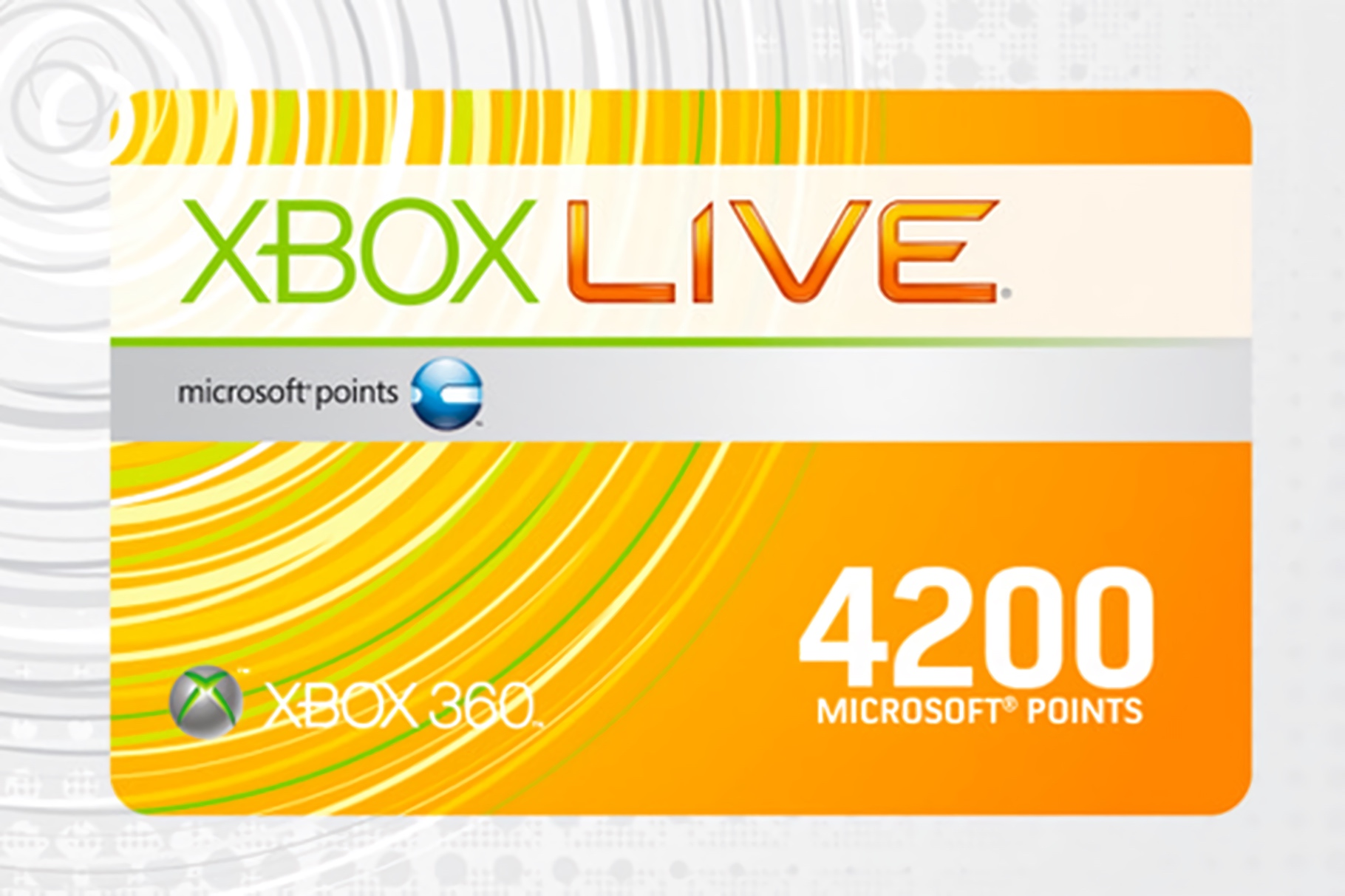 XBox Live Points/Microsoft Points Card (2012)
