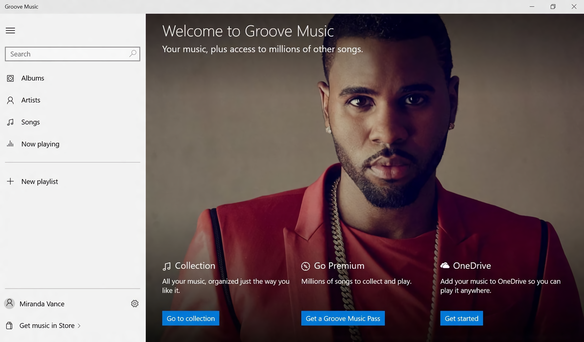 Microsoft Groove Music Pass Interface (2015)
