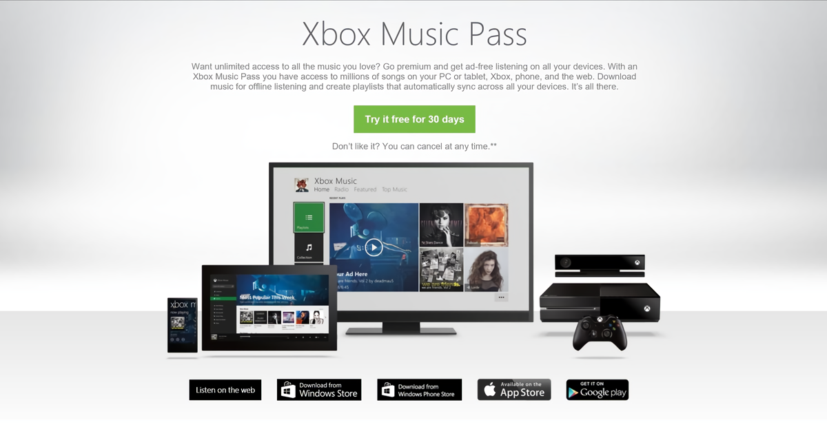 Xbox Music Pass Intro (2015)