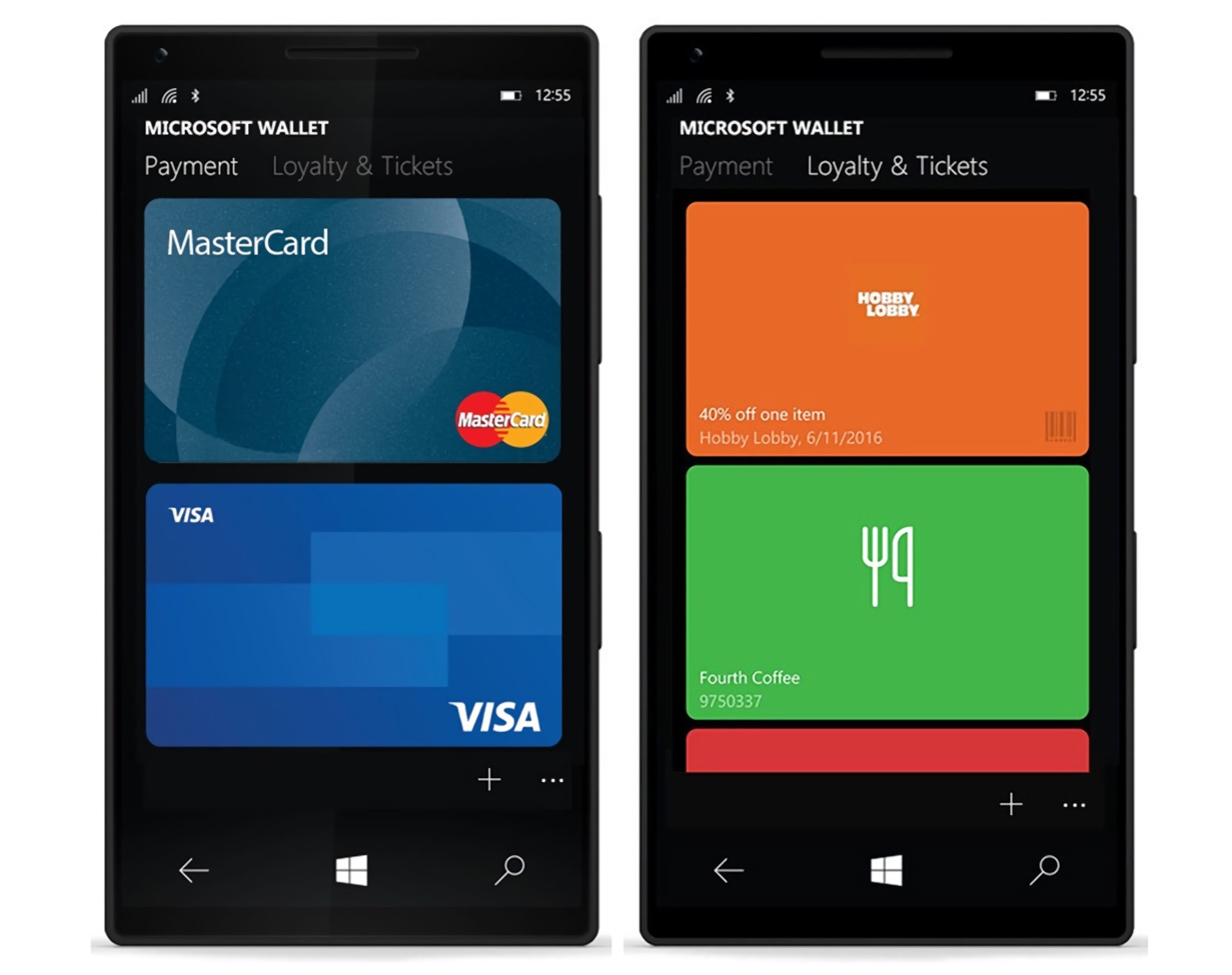 Microsoft Wallet App on Lumia Phones (2016)
