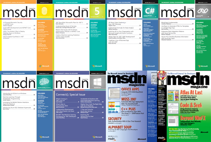 Microsoft MSDN Magazine Covers (2017)
