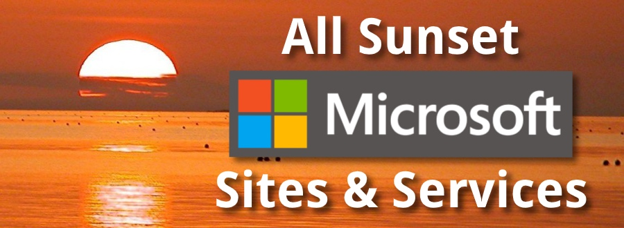 Discontinued Microsoft Websites and Services