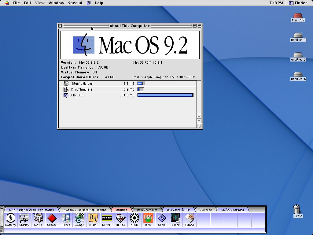 Mac OS 9.2 About This Computer (2001)
