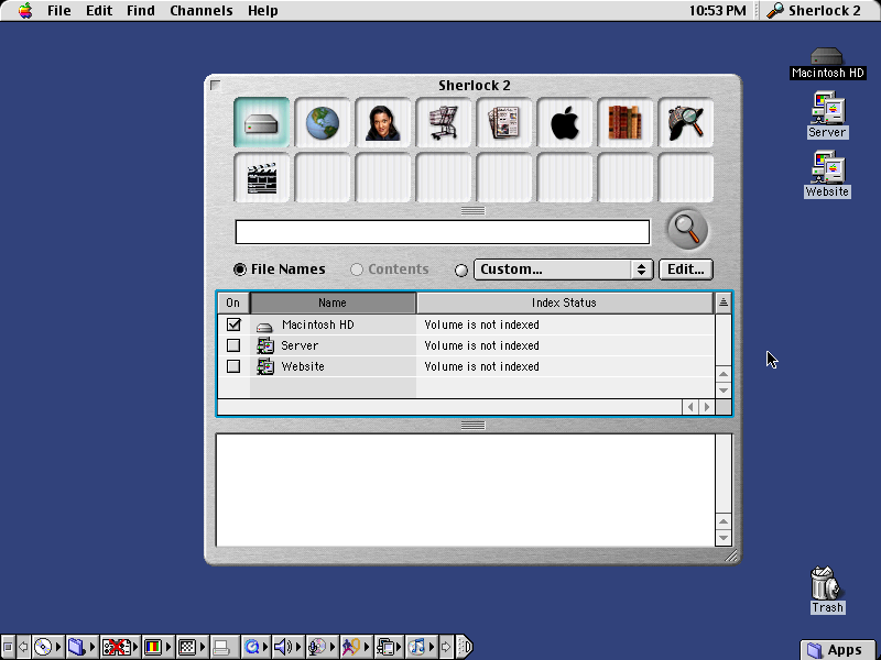 Mac OS 9.2 Sherlock 2 Search (2001)