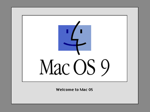Mac OS 9 welcome screen (1999)
