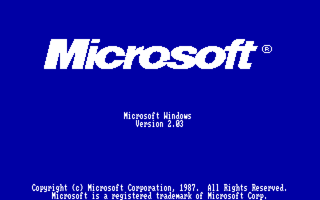 Windows 2.03 Title Screen (1987)