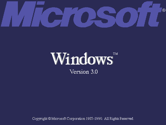 Windows 3.0 Title Screen (1990)