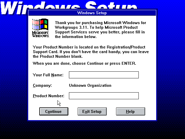Windows 3.1 Setup/Installation (1992)