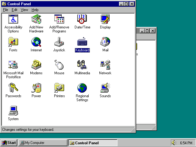 Windows 95 Control Panel (1995)