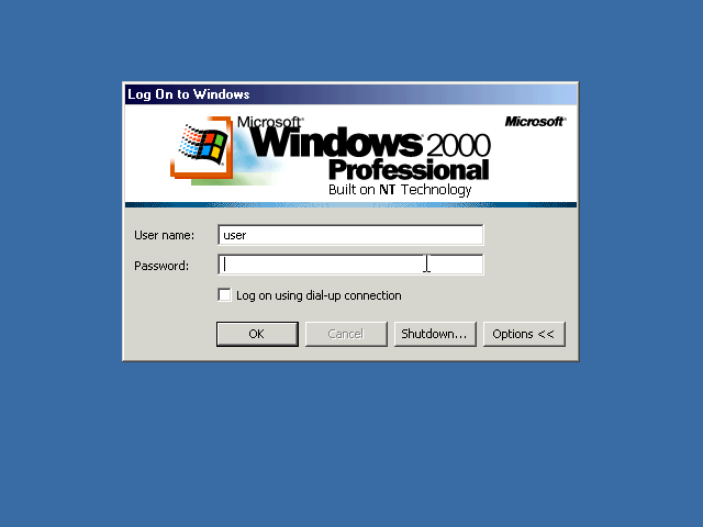 Windows 2000 Login Window (2000)