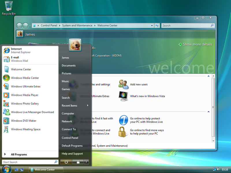 Windows Vista Start Menu (2006)