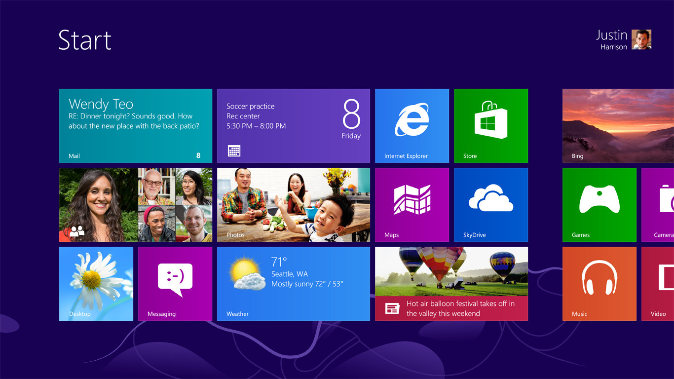 Windows 8 Metro Interface Desktop (2012)