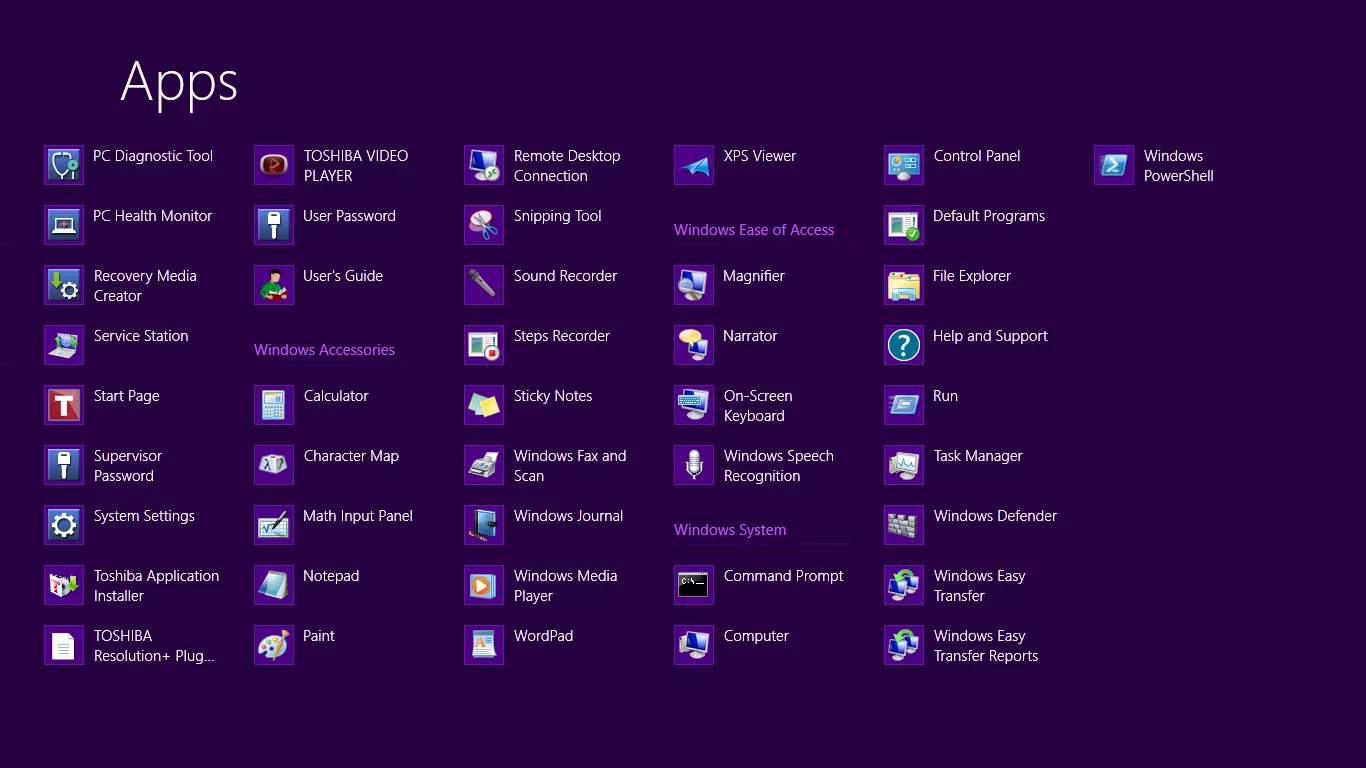 Windows 8 Apps List (2012)