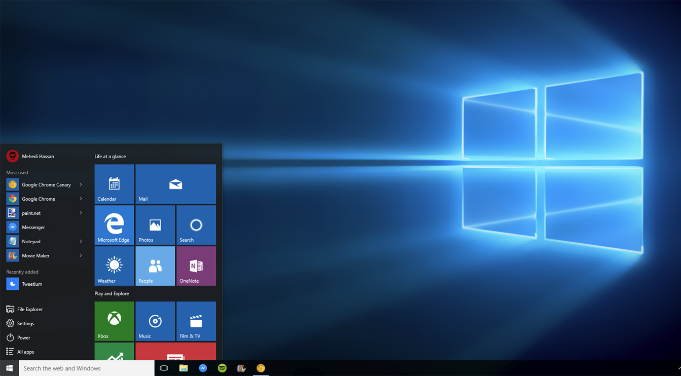 Windows 10 Desktop (2015)