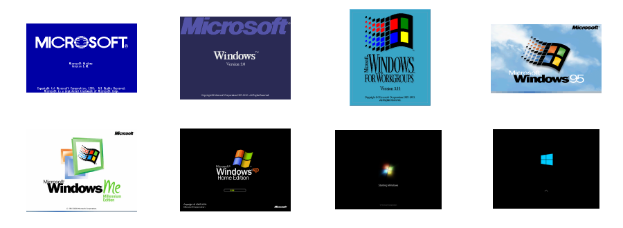 Design Evolution of the Microsoft Windows Welcome Screen