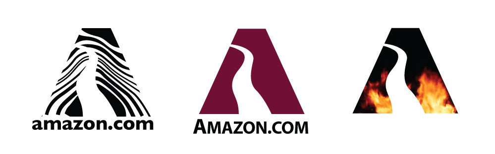 Amazon experiments with logo iterations (1997)