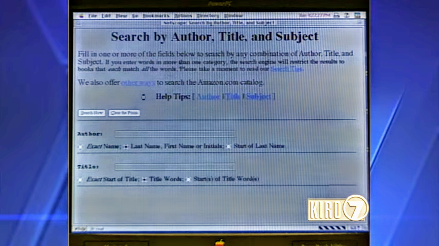 Amazon.com Search by Title, Author, or Subject (1997)