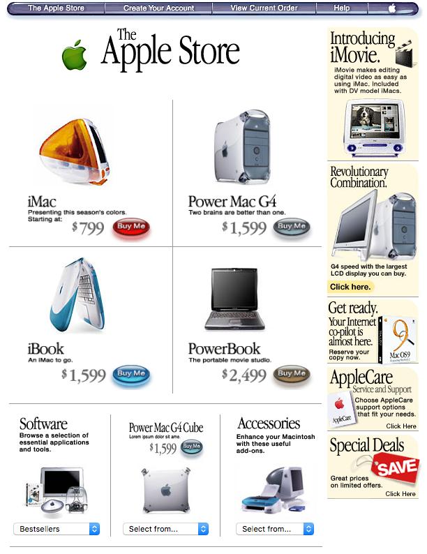 Apple.com store (1999)