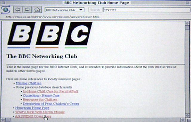 BBC.co.uk Homepage (1994)