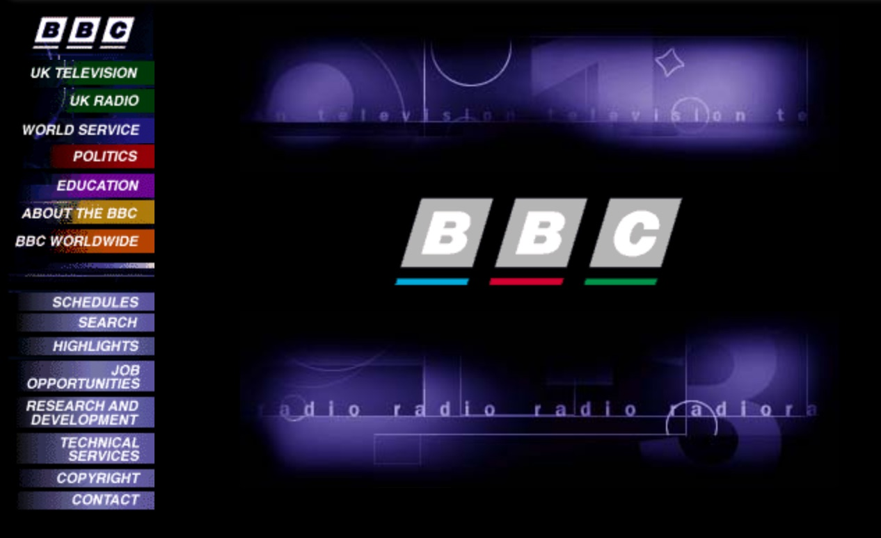 BBC.co.uk Homepage (1997)