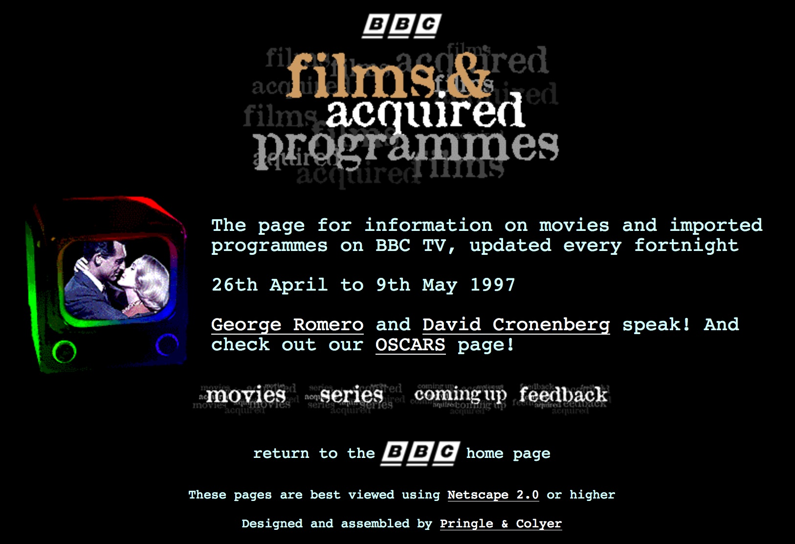 BBC.co.uk movies page (1997)