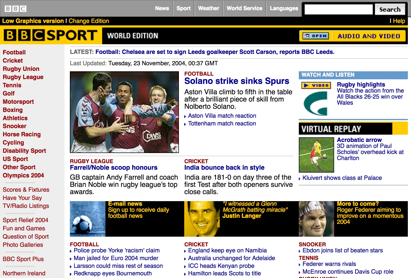 BBC.co.uk homepage (2004)