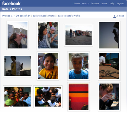 Facebook photos page (2007)