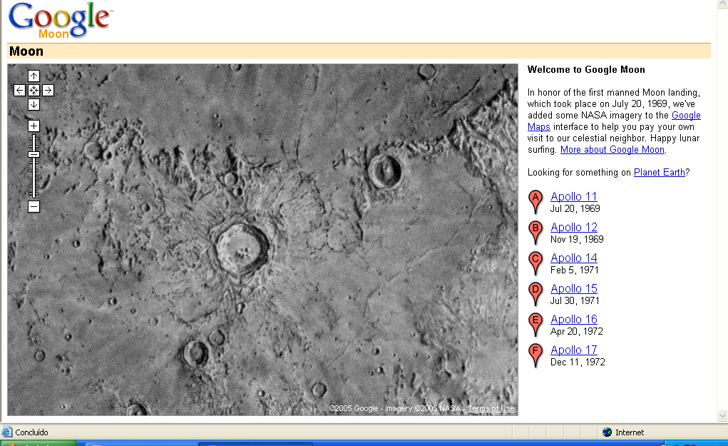 Google Moon Imagery (2005)
