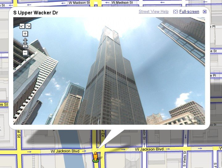Sears Tower in Street View (2007)